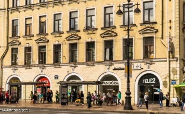 Locali fronte strada in vendita a reddito su Nevsky Prospekt