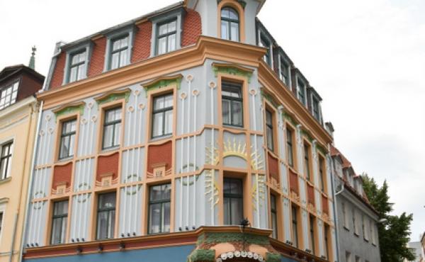 Palazzetto storico in stile Art Nouveau in centro a Riga